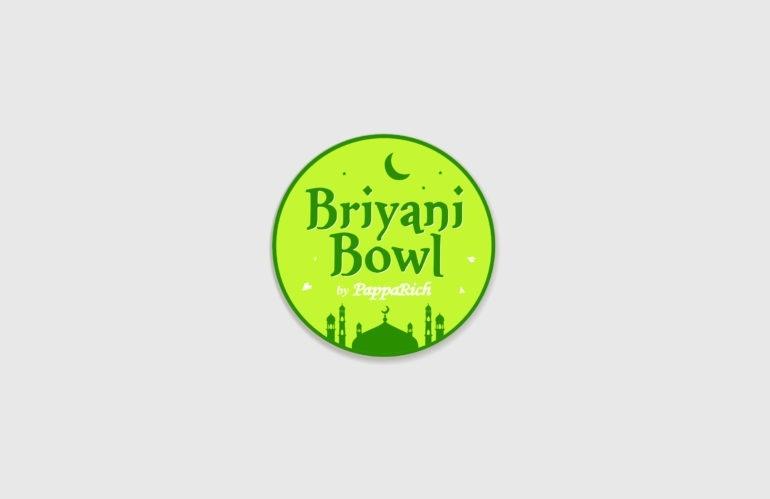 cetak stiker briyani bowl, percetakan jakarta tangerang, percetakan anugrah abadi jaya wisesa