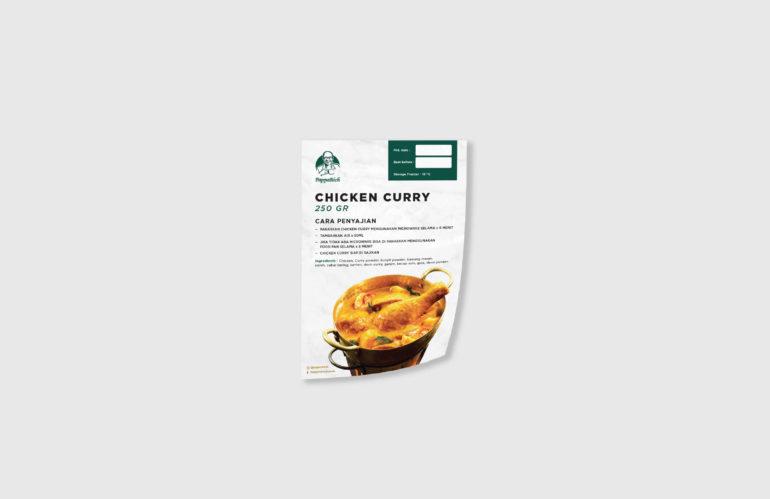 cetak stiker papparich chicken curry, percetakan jakarta tangerang, percetakan anugrah abadi jaya wisesa