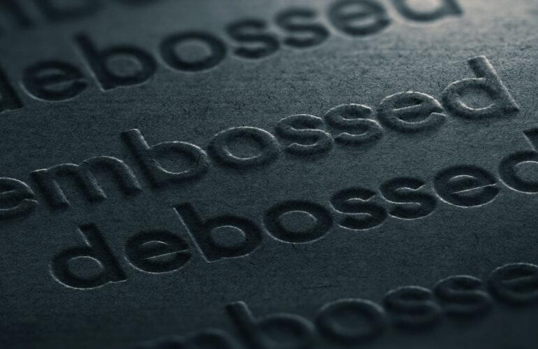 Apa itu Emboss & Deboss?